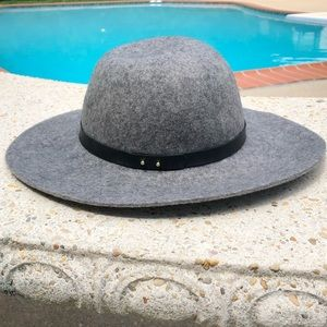 Lucky Brand Gray Wool Fedora Festival Hat